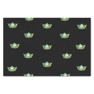 Miss America Green Crown Tissue Paper