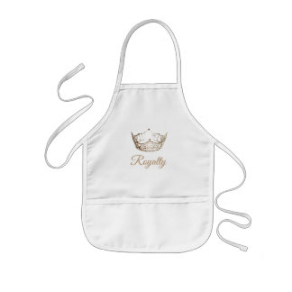 Miss America Kid's Gold Crown Apron-Royalty Kids Apron