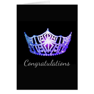 Miss America Lavender Crown Greeting Card-Congrats Card
