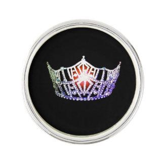 Miss America Lavender Crown Lapel Pin