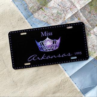 Miss America Lavender Crown License Plate