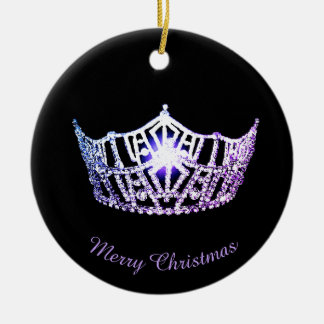 Miss America Lavender Crown Round Ornament