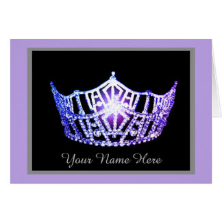 Miss America Lavender Crown Thank You Card-Printed Card