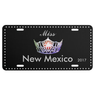 Miss America Lavender Silver Crown License Plate