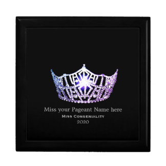 Miss America Lilac Crown Awards Jewelry Box