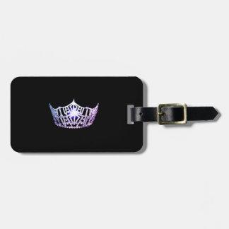 Miss America Lilac Crown Luggage Tag