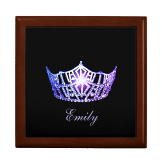 Miss America LVNDR Crown Personal Name Jewerly Box Trinket Boxes