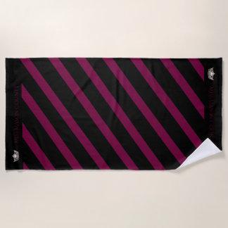 Miss America Merlot Wine Stripe Crown Beach Towel
