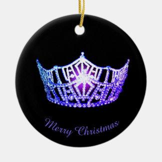 Miss America Miami Crown Round Ornament