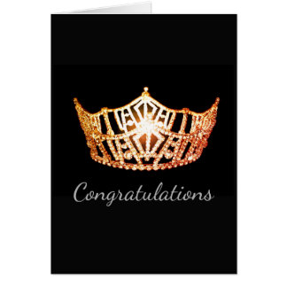 Miss America Orange Crown Greeting Card-Congrats Card