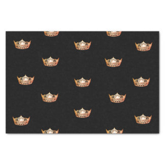 Miss America Orange Crown Tissue Paper