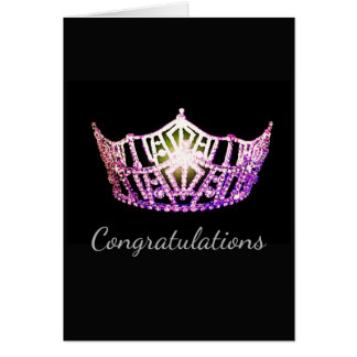Miss America Orchid Crown Greeting Card-Congrats Card