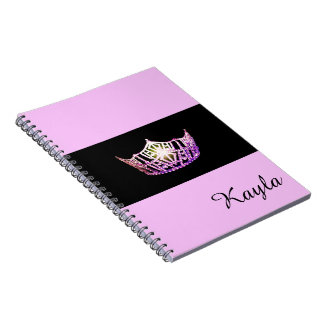 Miss America Orchid Crown Notebook- Custom Name Notebook