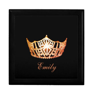 Miss America ORNGE Crown Personal Name Jewerly Box