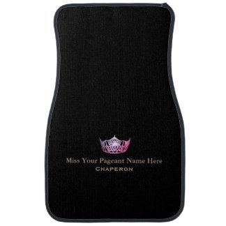 Miss America Pink Crown Custom Name Car Mat