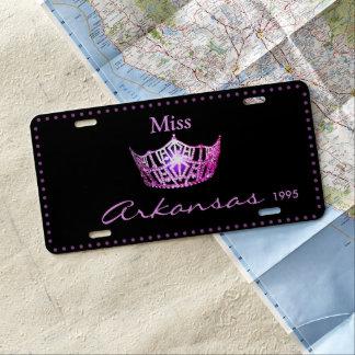 Miss America Pink Crown License Plate
