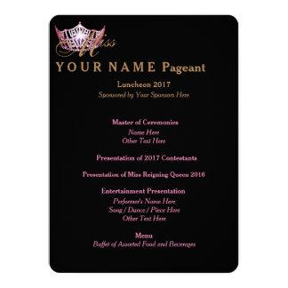 Miss America Pink Crown Luncheon Program Card