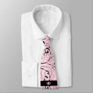 Miss America Pink Crown Men's Flourish Tie