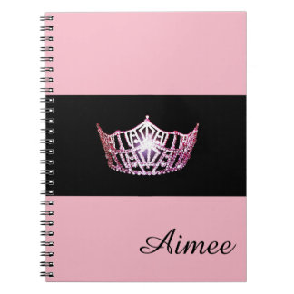 Miss America Pink Crown Notebook- Custom Name Notebook