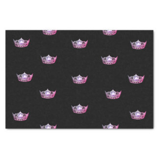 Miss America Pink Crown Tissue Paper