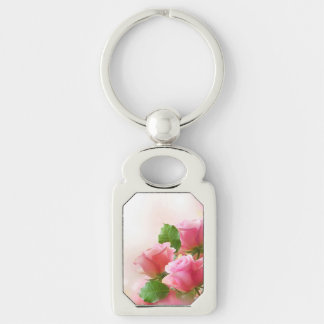Miss America Pink Roses Metal Key chain