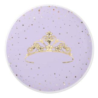 Miss America Princess Crown Ceramic Cabinet Knob