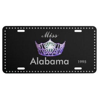 Miss America Purple Crown License Plate
