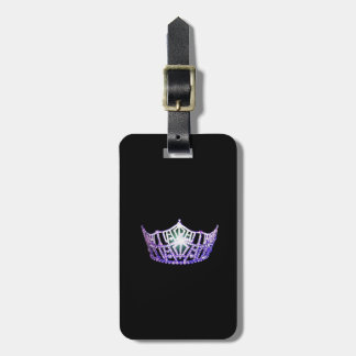Miss America Purple Crown Luggage Tag-Vertical Luggage Tag