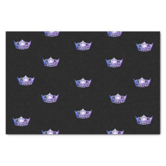 Miss America Purple Crown Tissue Paper