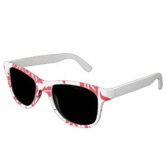 Miss America Red Dahlia Print Sunglasses