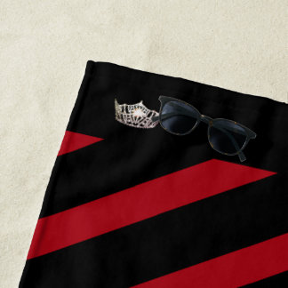 Miss America Red Stripe Crown Beach Towel