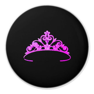 Miss America Rodeo USA Crown Ceramic Cabinet Knob
