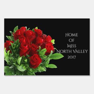 Miss America Roses Custom Name Yard Sign