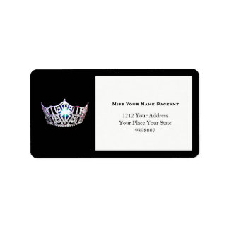 Miss America Silver Crown Address Labels