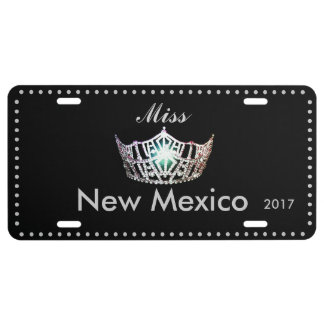 Miss America Silver Crown Aluminum License Plate