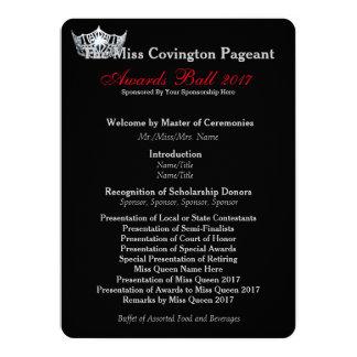 "Miss America Silver Crown Awards Ball Program Card 5.5"" X 7.5"" Invitation Card"