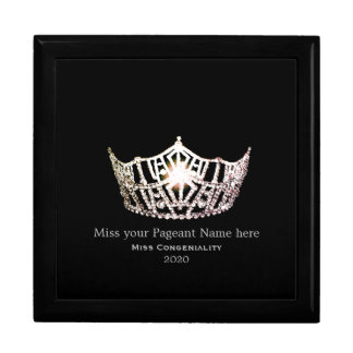 Miss America Silver Crown Awards Jewelry Box