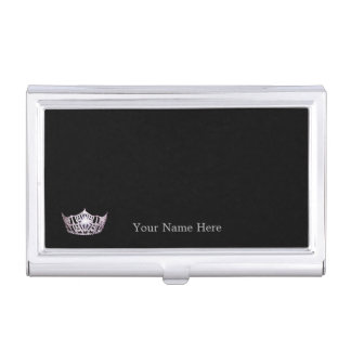 Miss America Silver Crown Business Card Case