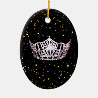 Miss America Silver Crown Christmas Ornament