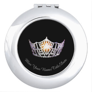 Miss America Silver Crown Compact Mirror