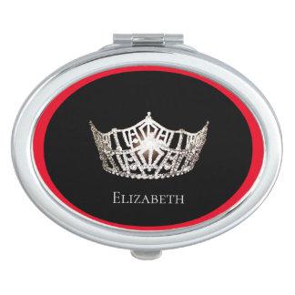 Miss America Silver Crown Compact Mirror-Name Vanity Mirror