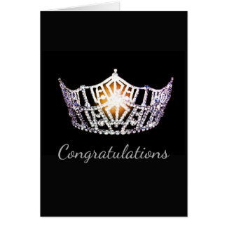 Miss America Silver Crown Greeting Card-plain Card