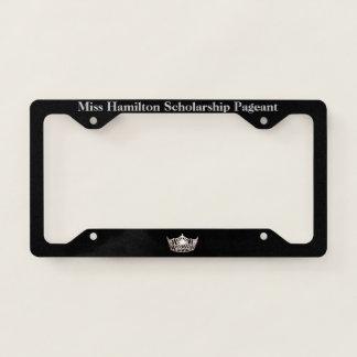 Miss America Silver Crown License Frame-Miss Schls License Plate Frame