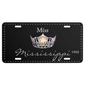 Miss America Silver Crown License Plate