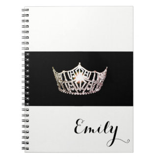 Miss America Silver Crown Notebook- Custom Name Notebooks