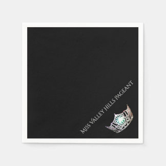 Miss America Silver Crown Paper Party Napkins Paper Napkin