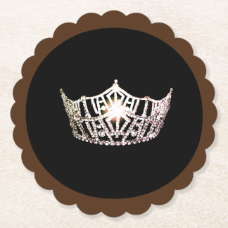 Miss America Silver Crown Sclpd Paper Coasters