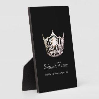 Miss America Silver Crown Swimsuit Winner Plaque