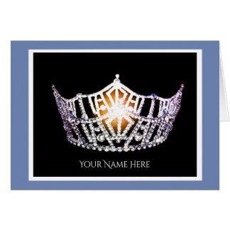Miss America Silver Crown Thank You Card-Blank Card