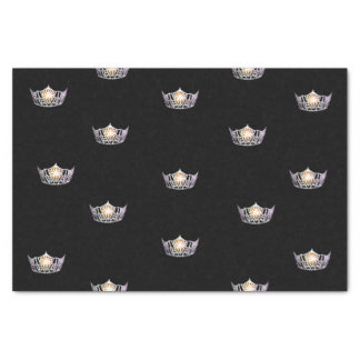 Miss America Silver Crown Tissue Paper